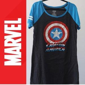 Captain America Raglan T-SHIRT